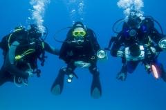 Anders, Viktoria och Ingvar i Röda Havet
